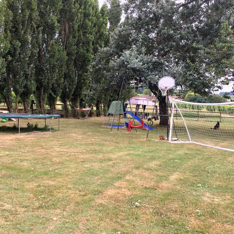 Trampoline, football nets, table tennis, swings, slide and more - plenty to keep the younger ones entertained